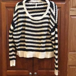 Cozy Free People Striped Sweater